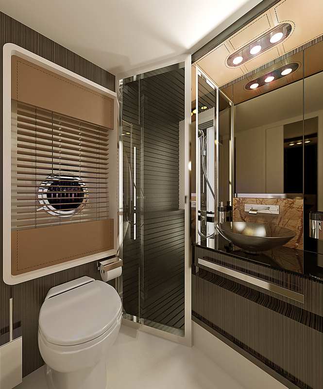 Azimut 77S Yacht - Gues Cabin - Bathroom