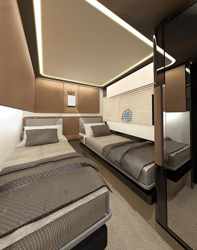 Azimut 77S superyacht - Guest Cabin