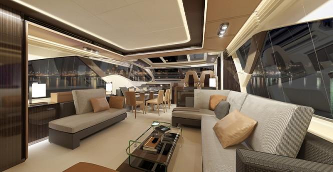 Azimut 77S superyacht - Saloon