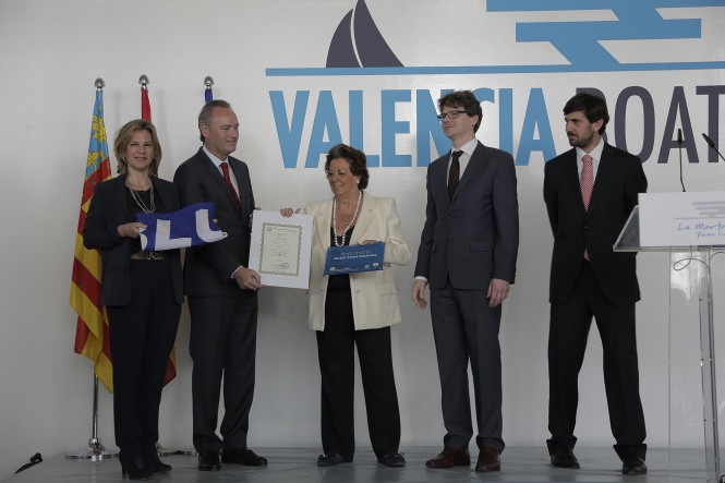 Blue Star certification for Marina Real Juan Carlos I handed over on the first day of the 2014 Valencia Boat Show