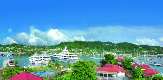 C&N 1782 Club Member Port Louis Grenada nestled in the popular Caribbean yacht charter destination - Grenada