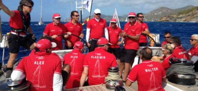 Crew aboard Southern Wind sailing yacht Cape Arrow