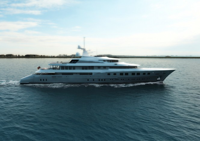 Dunya MegaYacht Red Square - Profile Image courtesy of Dunya Yachts