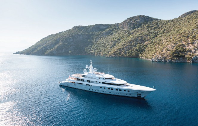 Dunya mega yacht AXIOMA (ex Red Square) - Image by Jeff Brown Superyacht Media