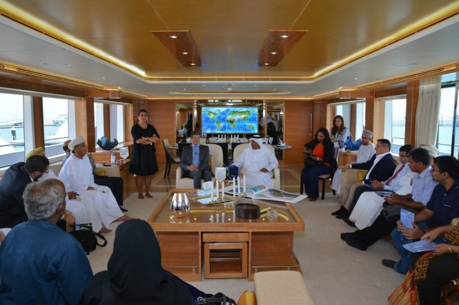 Gulf Craft Press Conference onboard the Majesty 135_the largest superyacht on display at the Gulf Craft Exclusive Preview 2014