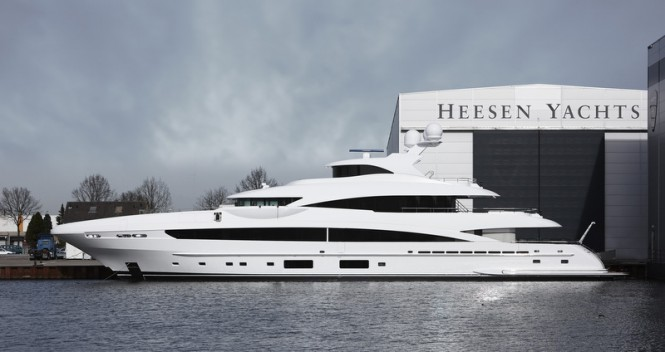 Heesen YN 16551 superyacht MY SKY - Photo credit to Dick Holthuis