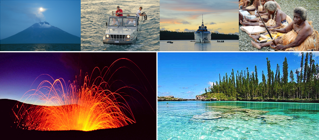 Images of Exuma superyacht's navigation throughout the South Pacific and beyond