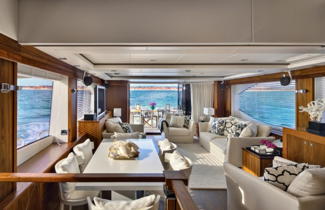 Interior of Yacht 88 project designed by Casa do Passadico
