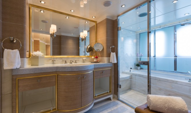 Lady Candy Yacht - Bathroom - Photo by Jeff Brown Superyacht Media