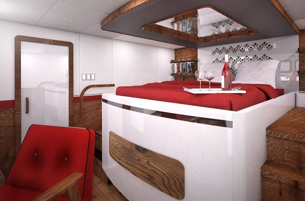 Luxurious cabin for 70 Sunreef Power Yacht
