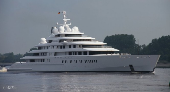 Luxury yacht AZZAM - Image credit to DiFoo