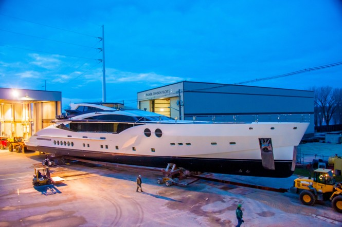 Luxury yacht BLISS designed by Nuvolari Lenard and launched by Palmer Johnson