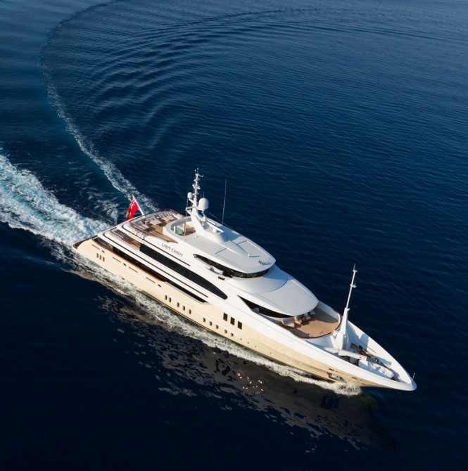 Luxury yacht Lady Candy - Image by Jeff Brown Superyacht Media