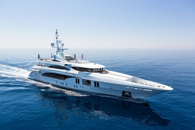 Luxury yacht Ocean Pacific