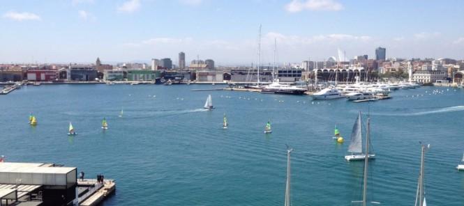 Marina Real Juan Carlos I nestled in the fantastic Spain yacht charter destination - Valencia