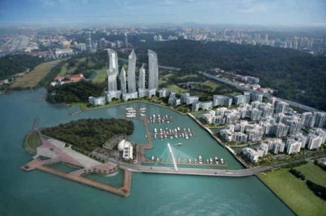 Marina at Keppel Bay positioned in the beautiful Asia yacht charter destination - Singapore