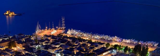 Mediterranean Yacht Show 2014 by night