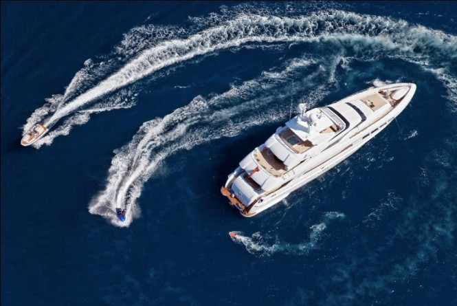 Mondo Marine charter yacht Manifiq and toys designed by Cor D. Rover - Image credit to Luca Dini Design