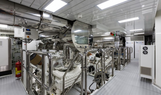 Motor yacht Lady Candy - Engine Room - Photo by Jeff Brown Superyacht Media