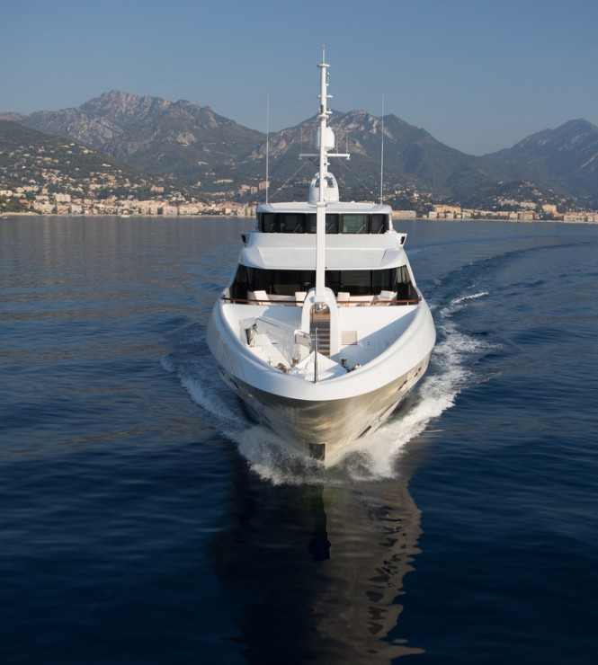 Motor yacht Lady Candy - front view - Image by Jeff Brown Superyacht Media