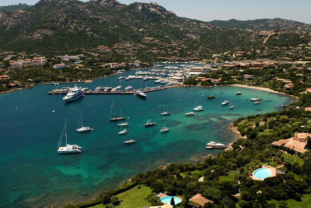 Picturesque Porto Cervo provides a stunning back drop for the superyacht fleet based at the YCCS