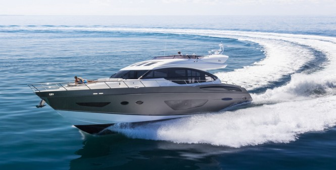 Princess luxury yacht S72 at full speed
