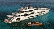 Rendering of superyacht WIDER 165 by WIDER Yachts