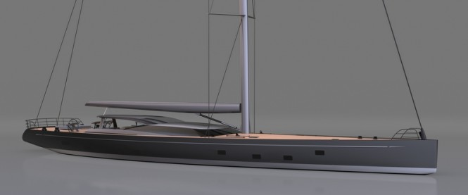 Rendering of the 46m Vitters superyacht Ganesha