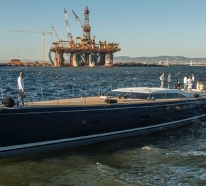 Launch of Southern Wind SW102#03 sailing yacht 'FARFALLA'