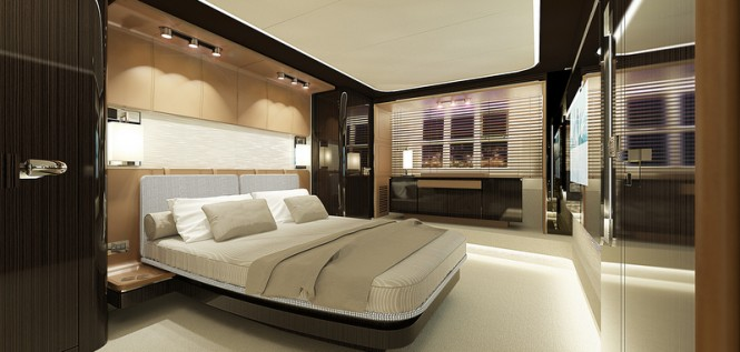 Superyacht Azimut 77S - Owners Cabin