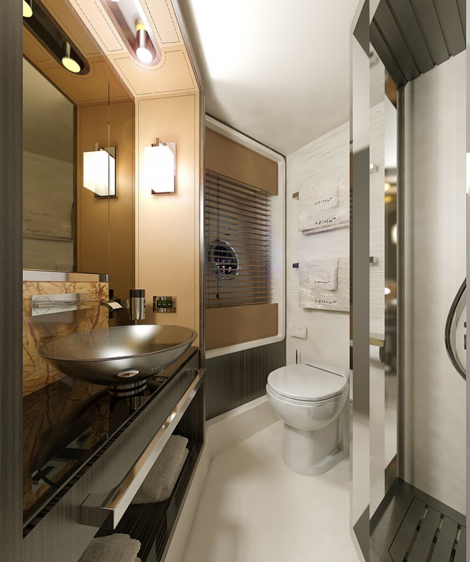 Superyacht Azimut 77S - VIP Cabin - Bathroom