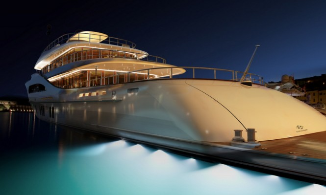 Superyacht Z164 by night