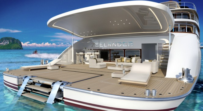 Z164 Yacht - aft view