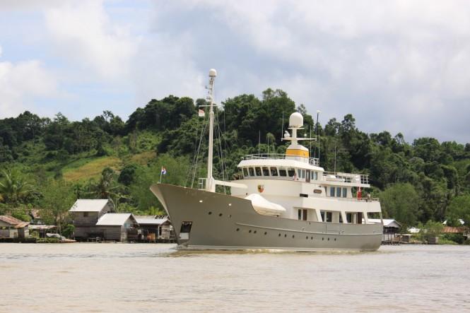 Zeepaard yacht - ex Axantha I - in Borneo Indonesia - Copyrights Zeepaard
