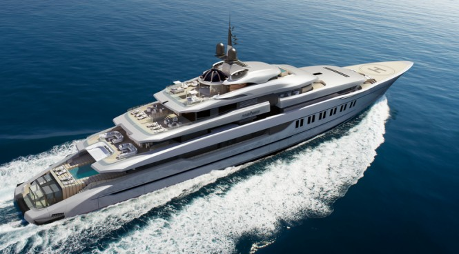 110m super yacht Primadonna (DP028) concept by Oceanco and Hot Lab