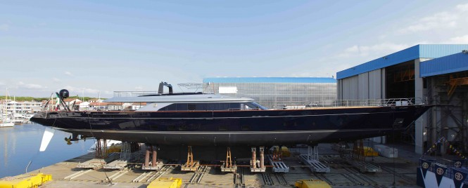 60m Perini Navi mega yacht Perseus3 (C.2218) at launch
