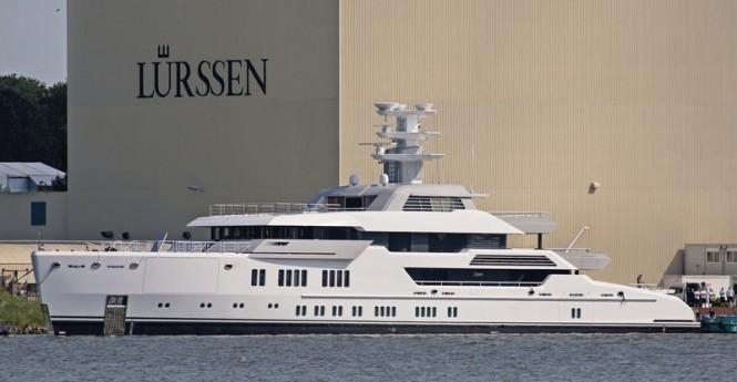 66m Lurssen superyacht ESTER III (Project Green, hull 13685) - Photo by Klaus Jordan