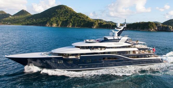 85m Lurssen mega yacht Solandge - Photo by Klaus Jordan