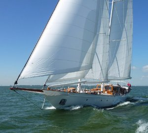 95 Classic superyacht Neorion (ex Green Seagull) by Bloemsma and Oliver van Meer on her first sea trials - Photo credit to Oliver van Meer Design BV