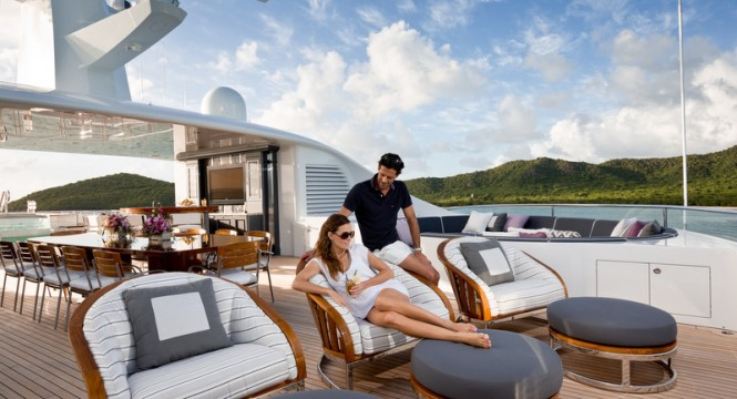 Aboard superyacht INVICTUS - Photo by Jeff Brown