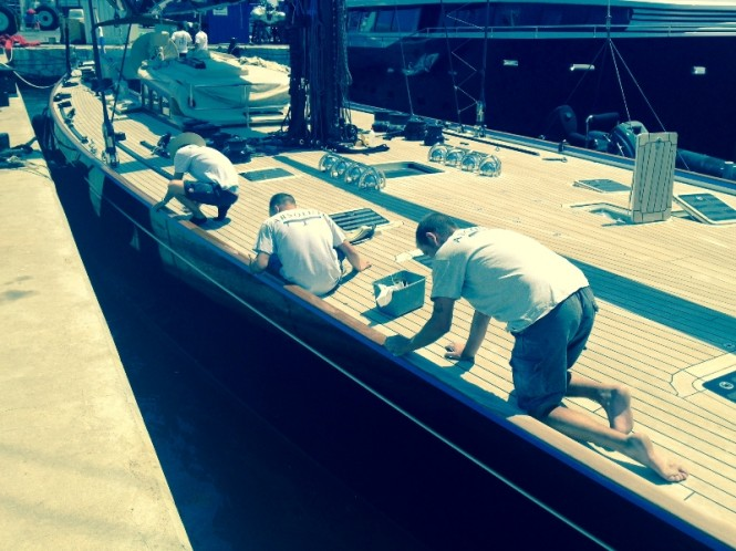 Absolute Boat Care Team at work
