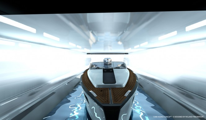 Assina yacht concept - Tender Garage