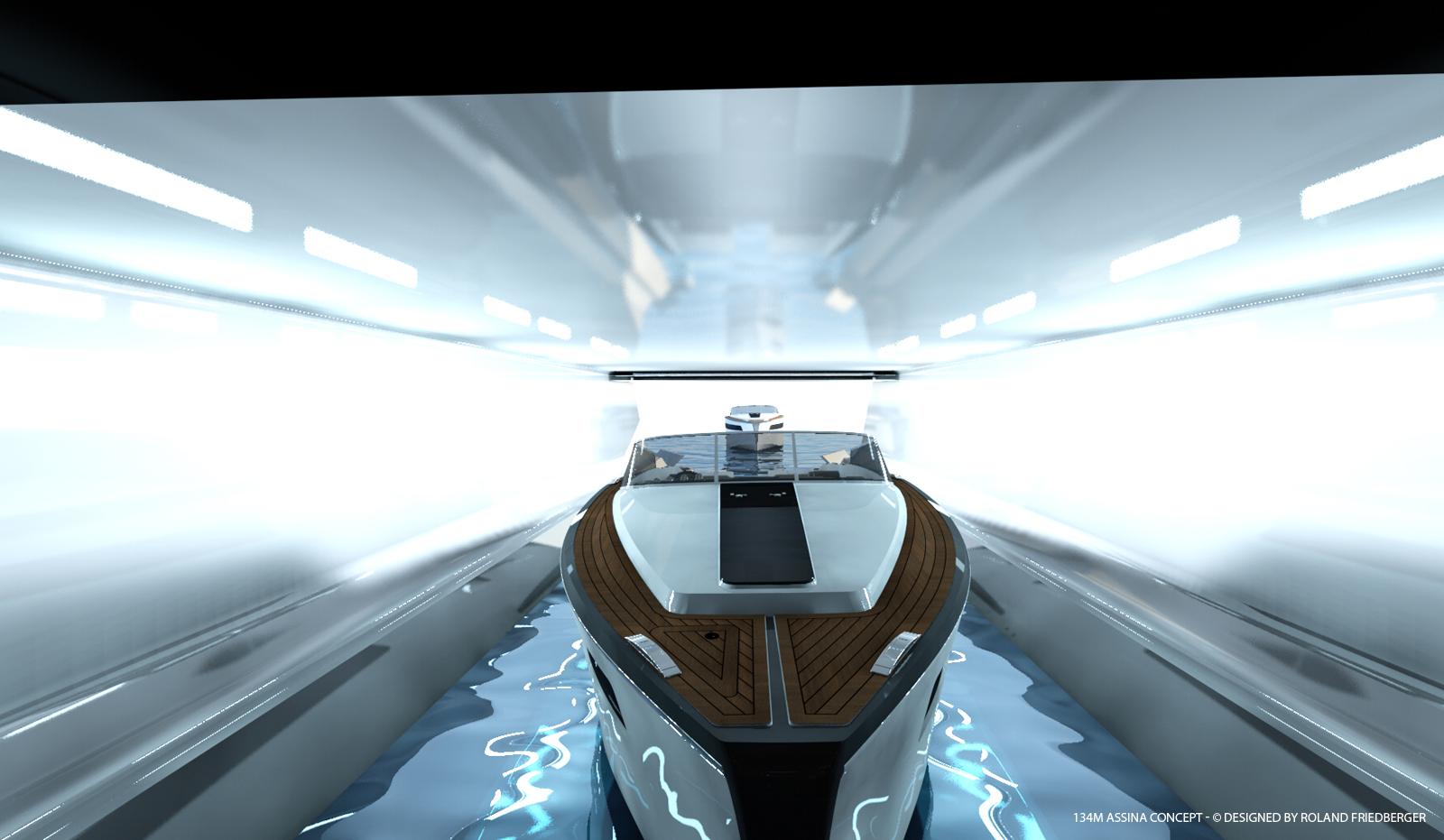 Assina yacht concept - Tender Garage
