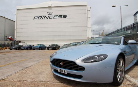 Aston Martin cars at Princess Yachts