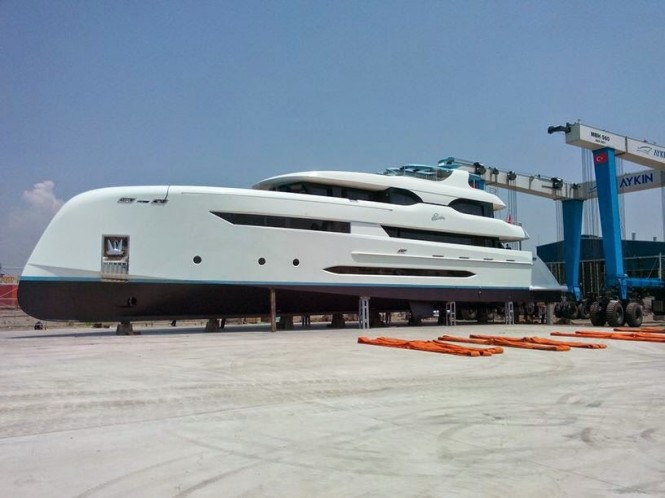 Bilgin 147 super yacht ELADA at launch