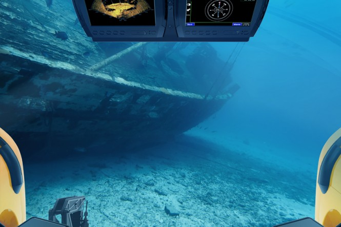 C-Explorer 3 Submersible by U-Boat Worx - Cockpitview