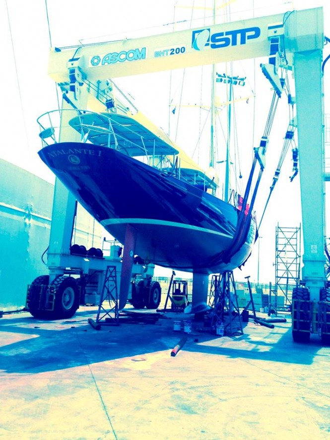 Claasen charter yacht Atalante ready to splash - Image credit to Absolute Boat Care