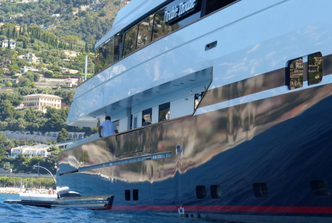 Double Trouble Yacht - side view