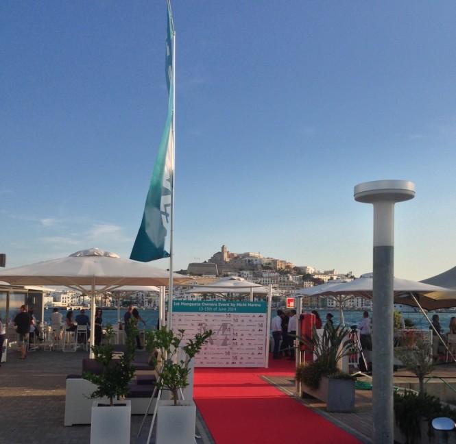 First international meeting of Mangusta superyachts owners at the Marina Ibiza