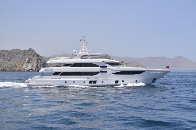 Gulf Craft superyacht Majesty 135 in Musandam, Oman